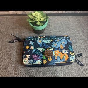 New Vera Bradley wallet CUTE ! Blue , orange